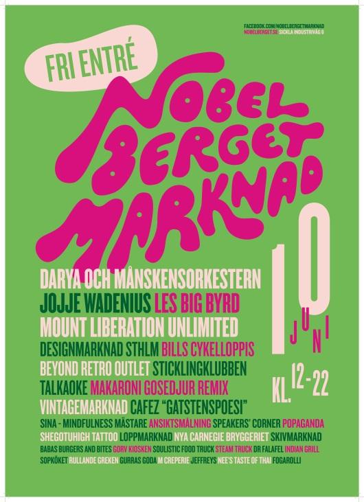 Affisch Nobelberget Marknad 10 juni
