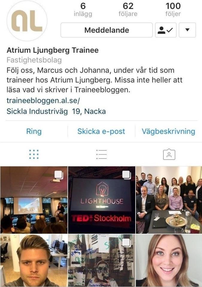 Atriumljungbergtrainee Instagram