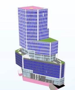 3D-modell Sickla Stationshus